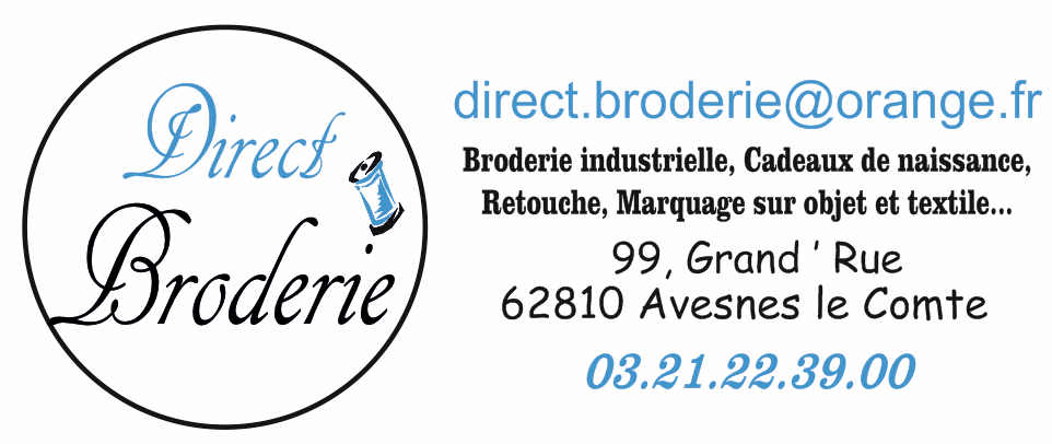 Logo direct broderie rond