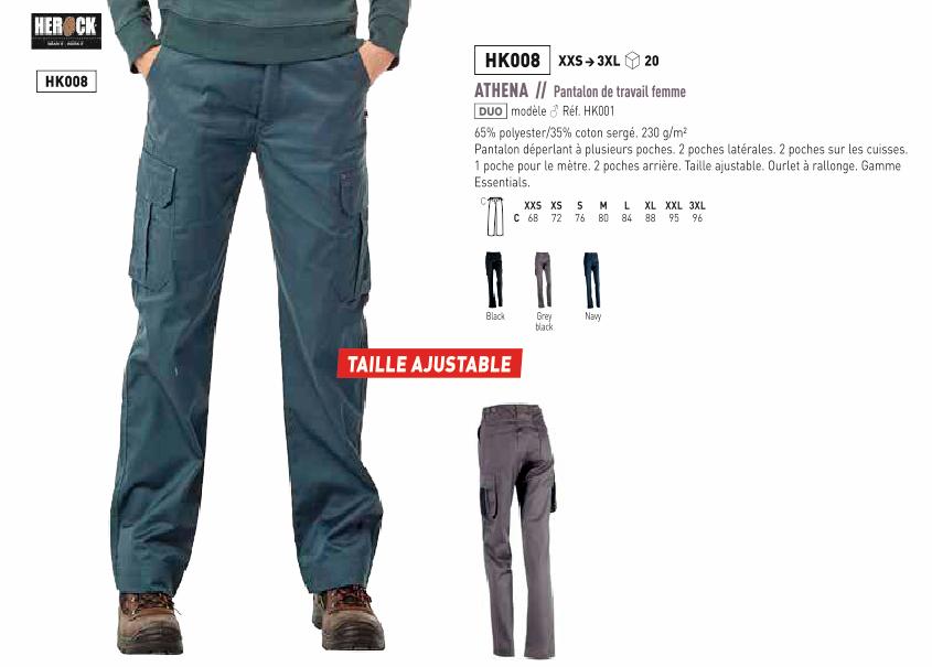 Pantalon de travail de chez TOPTEX